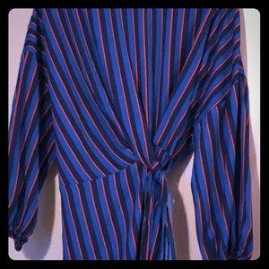 Unique striped blouse